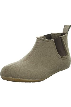HAFLINGER Unisex Adults' Everest Hygge Open Back Slippers, (Taupe 280)