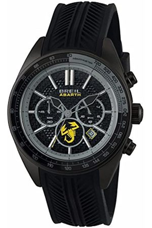 Breil Men's Abarth Watch Collection Mono-Colour dial Chrono Quartz Movement and Silicon Strap TW1694