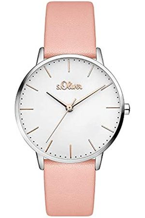s.Oliver Women's Analogue Quartz Watch with Leather Strap SO-3442-LQ