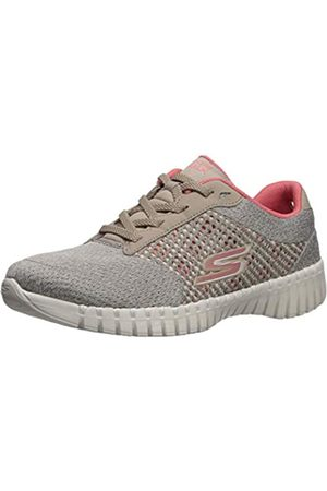 Skechers Women's GO Walk Smart Influence Trainers, (Taupe Textile/Coral Trim Tpcl)