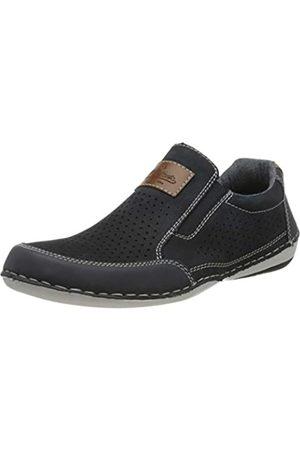 Rieker Men's Frühjahr/Sommer Loafers, (Navy/Pazifik/Amaretto 14)