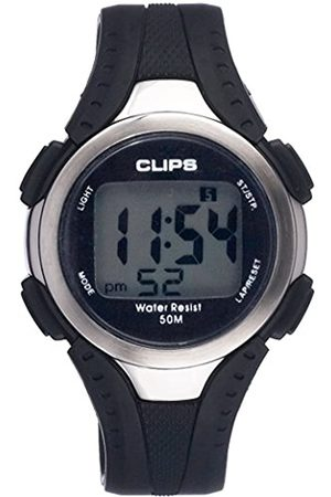 CLIPS Men's Quartz Watch with Dial Digital Display and Rubber Strap 539-6000-44