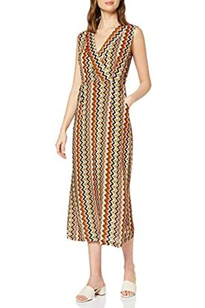 Mela Women's Bright Zig Zag Printed Wrap Dress Cocktail
