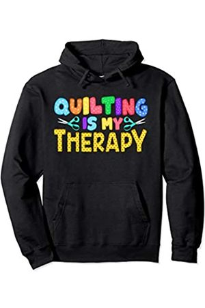 Tee Styley Quilting Is My Therapy Quilts Women Mom Grandma Aunt Sister Pullover Hoodie