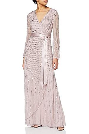 Frock and Frill Women's Jules Embellished Wrap Maxi Dress with Bell Sleeve Party