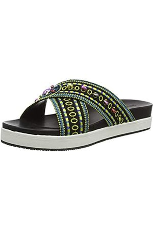 Desigual Women's Shoes NILO Beads Platform Sandals, (Negro 2000)