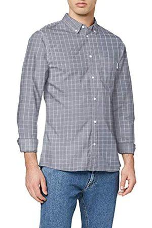 Tommy Hilfiger Men's TJM Windowpane Shirt Casual, (Twilight Navy/Multi 0Ms)
