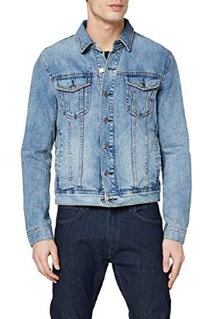 Armani Men's 11, 5 Ounces, Medium Wash Blouson Jacket