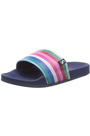 Joules Women's Poolside Open Toe Sandals, ( Multi Stripe Whtmltstrp)