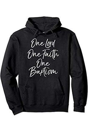 P37 Design Studio Jesus Shirts Bible Verse Gift for Women One Lord One Faith One Baptism Pullover Hoodie