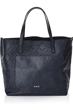 TOUS Capazo Grande Mossaic, Women's Shoulder Bag, Azul (Marino)