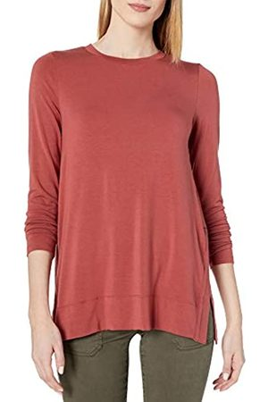 Daily Ritual Long-Sleeve Split-Hem Tunic Shirt