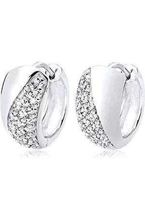Elli Women's Creole Earrings 925 Sterling Silver Crystal Swarovski Crystal 0310210913 Woman