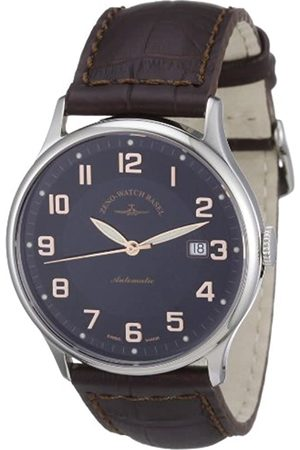 Zeno Watch Basel Men's Automatic Watch Flatline 6209-c1 with Leather Strap