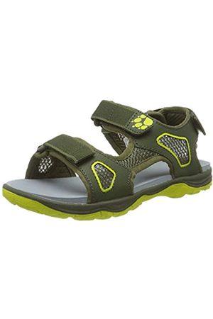 Jack Wolfskin Unisex Kids' Taraco Beach Sandal K Sports, (Khaki/Lime 4286)