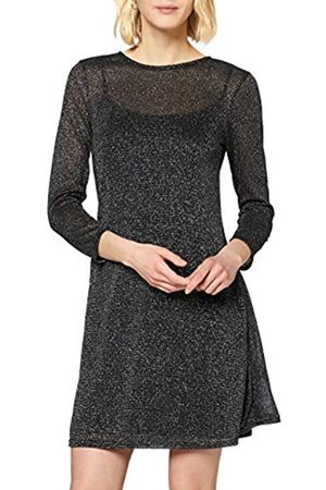 Dorothy Perkins Women's Lurex Mesh Fit and Flare Dress