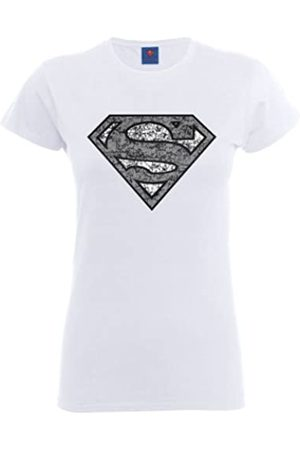 DC Women's Official Superman Distressed Logo T-Shirt