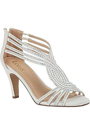 Lotus Women's Nicole Open Toe Heels, (Ice 0w)