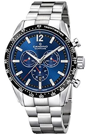 Candino Mens Chronograph Quartz Watch with Stainless Steel Strap C4682/2