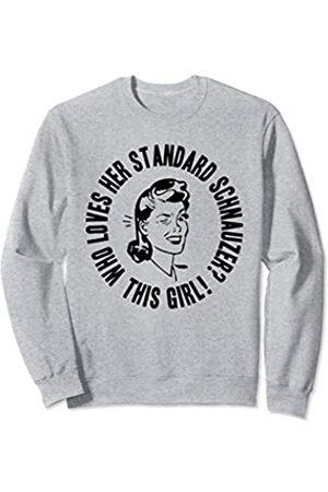 Things I Love Who Loves Her Standard Schnauzer? This Girl! Womens Dog Gift Sweatshirt