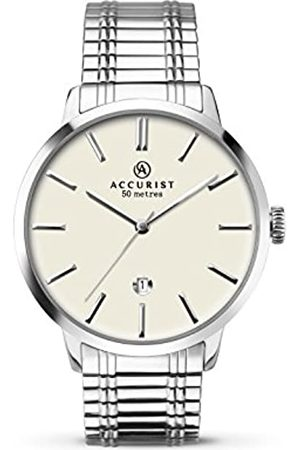 Accurist Mens Analogue Classic Quartz Watch with Stainless Steel Strap 7134.01