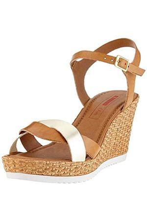 s.Oliver Women's 5-5-28703-34 Ankle Strap Sandals, (Cognac/LT 331)