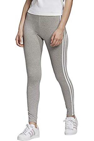 adidas Women's 3 Stripes Tight Leggings, Gris ChinXc3/Blanc