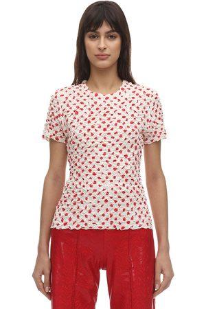 Saks Potts Chica Polka Dot Gathered T-shirt