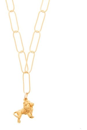 Alighieri Baby Lion In The Night 24kt -plated Necklace - Womens