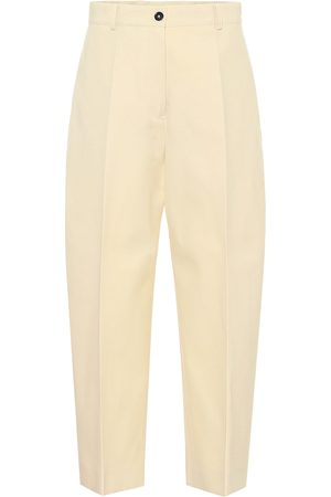 Colovos High-rise cotton-blend pants