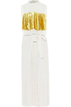 Prada Silk-toile midi dress
