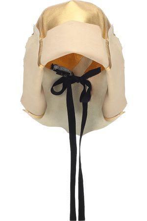Prada Metallic leather hat