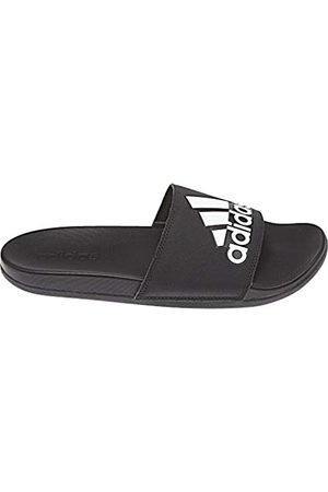 adidas Men's Adilette Cf+ Logo Beach & Pool Shoes, (Cblack)