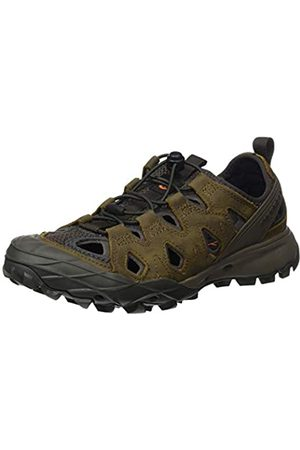 Merrell Women's Choprock Leather Shandal Water Shoes, (Brindle)