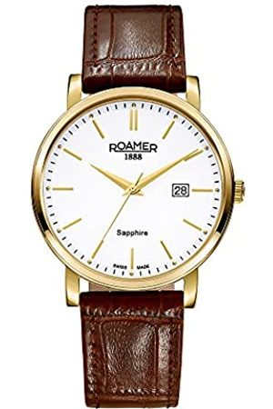 Roamer Men's Quartz Watch with Dial Analogue Display and Leather Strap 709856 48 25 07