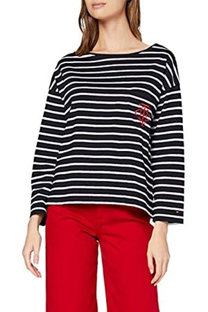 Tommy Hilfiger Women's Th Essential Breton STP Top Ls Long Sleeve
