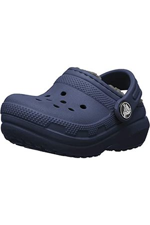 Crocs Kids' Classic Lined Clog, (Navy/Charcoal 459)