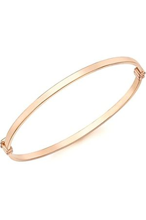 Carissima Gold 9ct Rose Rectangular Tube Bangle