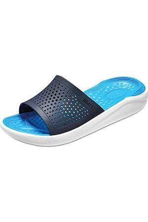 Crocs Unisex Literide Slide Flat Sandal, (Navy/ 462b)