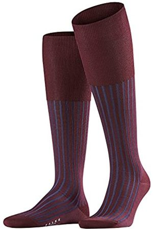 FALKE Men Shadow Knee-Highs - 95% Cotton, Red (Schwarzkirsche 8595), UK 5.5-6.5 (Manufacturer size: 39-40)