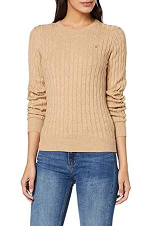 GANT Women's Stretch Cotton Cable Crew Sweater
