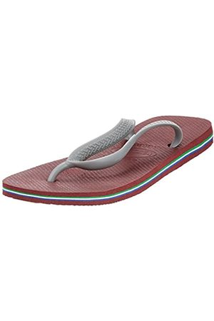 Havaianas Brasil Logo, Unisex Adults' Flip Flop Flip Flops, (Grape Wine)