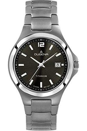 DUGENA Men's Titan Quartz Watch with Dial Analogue Display and Titanium Bracelet