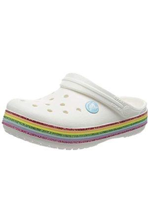Crocs Unisex Kid's Crocband Rainbow Glitter Clogs, ( 100)