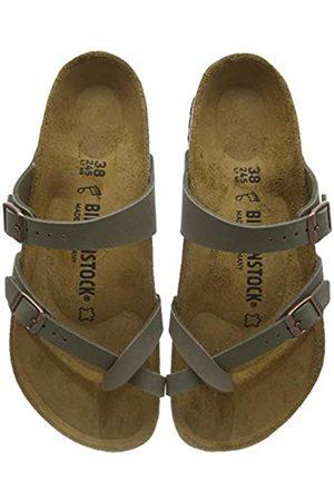 Birkenstock MAYARI Birko-Flor Nubuck, Women's Flip Flop Sandals, (Stone)