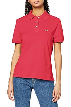 Tommy Hilfiger Women's TJW Tommy Classics Polo Shirt, (Blush Xif)