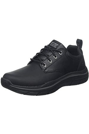 Skechers Men's EXPECTED 2.0 Oxfords, ( Leather Blk)
