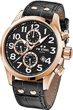 TW steel Unisex Adult Chronograph Quartz Watch with Leather Strap VS74