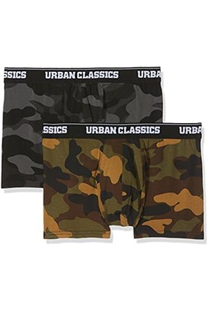 Urban classics Men's 2-Pack Camo Boxer Shorts, Woodcamo + Darkcamo