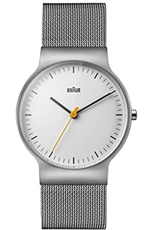 Braun Mens Analogue Classic Quartz Watch with Stainless Steel Strap BN0211WHSLMHG